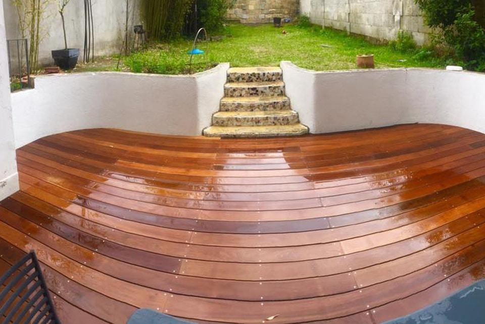 Réalisation d'une Terrasse d'extérieur en bois Itauba